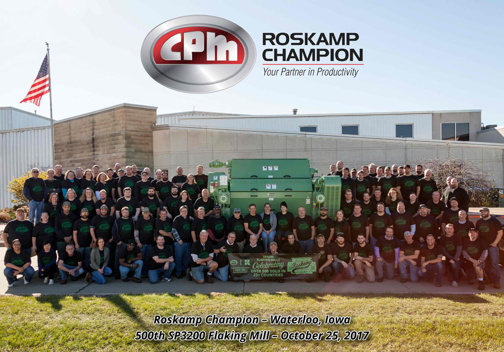 IMAGE - Roskamp Champion Produces 500th Flaking Mill